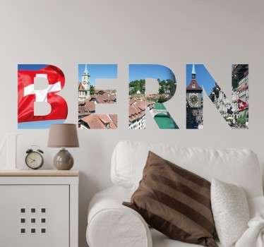 Wandtattoo Bern Buchstaben