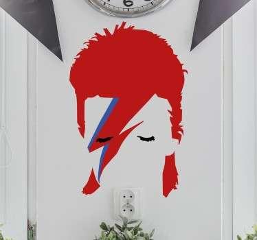 sticker portrait David Bowie