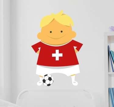 Muursticker Kinderkamer Zwitserland Voetbal