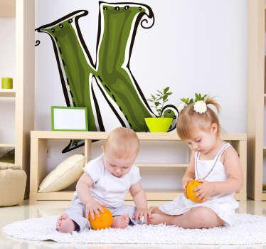 Sticker enfant dessin lettre k