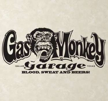 Gas Monkey Garage Text Sticker