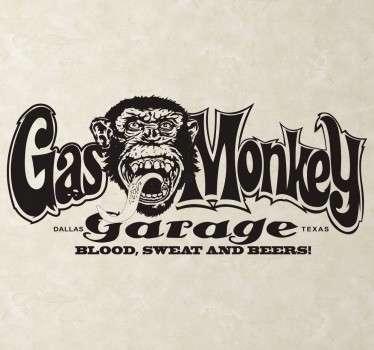 Gas Monkey Garage Text Sticker