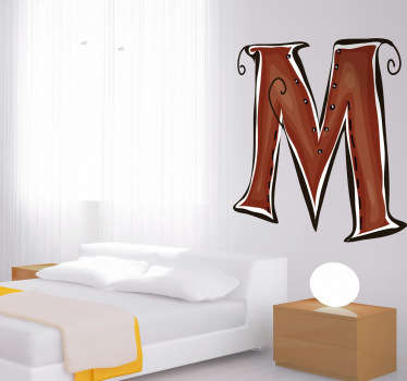 Decorative sticker of the letter M. Does your child´s name start with M?  A brilliant decal to decorate your children´s room.