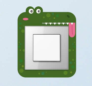 Lichtschalteraufkleber tanzendes Krokodil