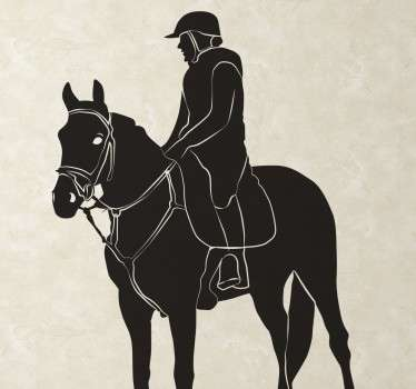 Horse and Jockey Wall Sticker