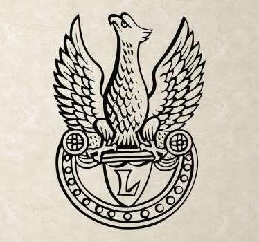 Naklejka przedstawiająca sylwetkę orła,który jest symbolem Polski. Sprawdź nasze inne naklejki patriotyczne. Ponad 50 dostępnych kolorów!
