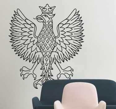 Naklejka ścienna i na każdą płaską powierzchnię przedstawiająca sylwetkę orła, który jest identyczny jak w godle  Polski. Codziennie nowe projekty!
