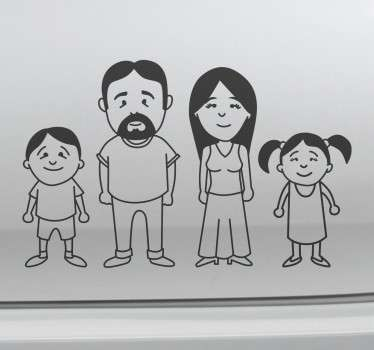 Sticker dessin de famille