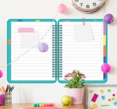 Notebook Whiteboard Sticker