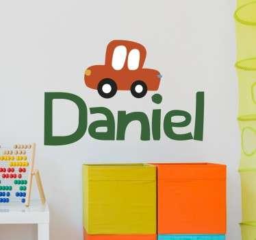 Customisable Car Name Children's Sticker