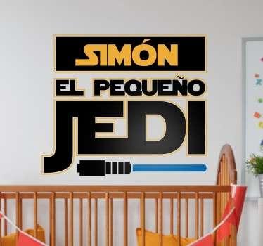 Vinilos nombre personalizable para habitación infantil, pensado para familias seguidoras de Star Wars.