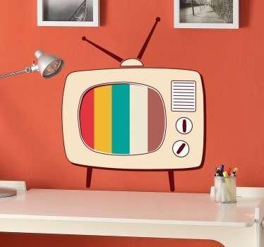 Sticker télé rétro pop