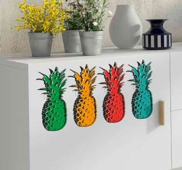 Wandtattoo Ananas Pop Art