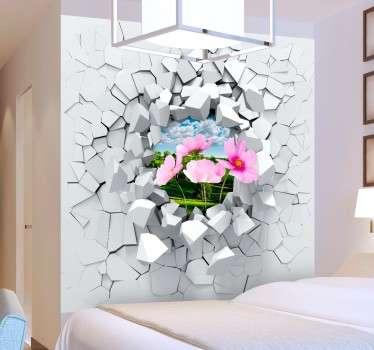 Vinil decorativo explosão parede personalizável
