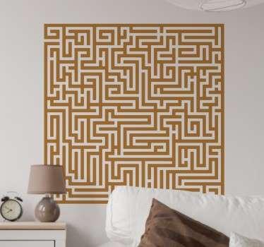 Vinilos pixel art laberinto