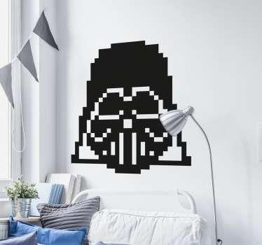Adesivo pixel art Darth Vader
