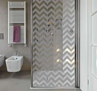 Lineal Pattern Shower Sticker