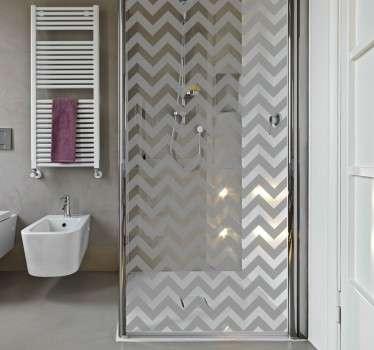 Driehoekige lijnen patroon sticker voor douche