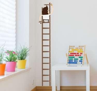 Schilder op een Meter Ladder Muursticker