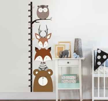Woodland Animals Height Chart Sticker
