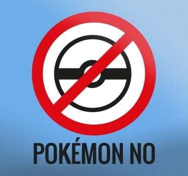 Naklejka dekoracyjna Pokemon No