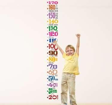 ölçüm bandı çocuk duvar sticker