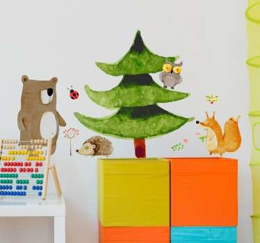 Skog djur vägg klistermärke