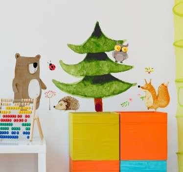 Sticker animaux forêt
