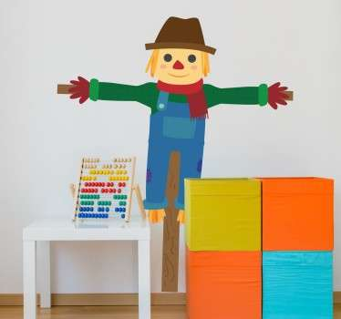 Children's Scarecrow Wall Vinyl