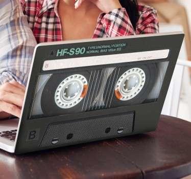 Pegatina para portátil cassette 80's