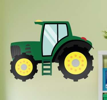 This green tractor design is the perfect decorative children's wall sticker! Suitable for bedrooms, nurseries and playrooms. Excellent cartoon vehicle design from our collection of farm themed wall stickers.