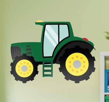 Pegatina infantil tractor granja