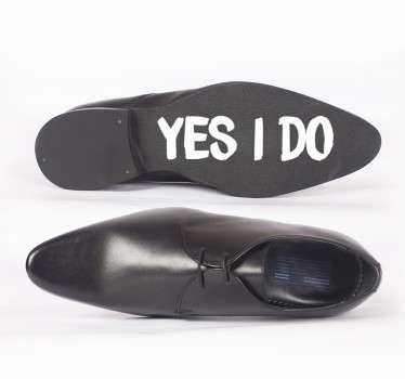 sticker mariage chaussure ou autre