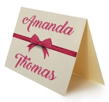 Wedding Names and Bow Sticker