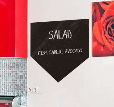 This chalkboard wall sticker is the perfect addition to your walls to help you keep organised in the kitchen!