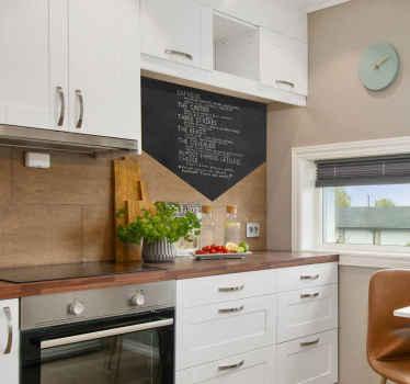 Keuken muursticker menukaart