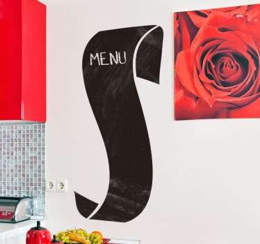 Vinil decorativo rol de menu