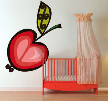 Decorate your children's room with an original decorative sticker which illustrates a sweet cherry. Brilliant decal for any room!