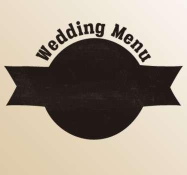Naklejka ślubna weselne menu