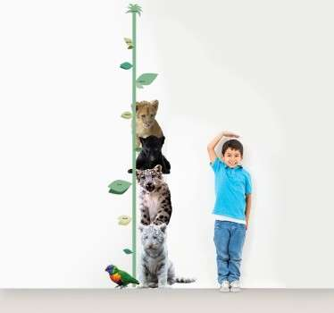 If your kid is a huge lover of big cats, then this children's decorative wall sticker is the absolutely perfect vinyl for you!