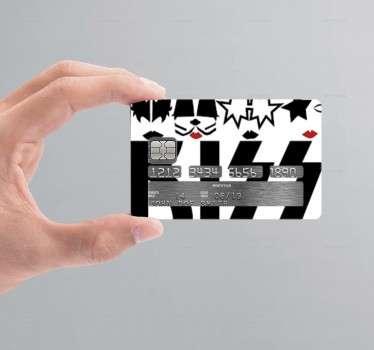 Sticker carte de crédit Kiss