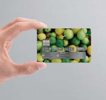 Naklejka na kartę kredytową limonki