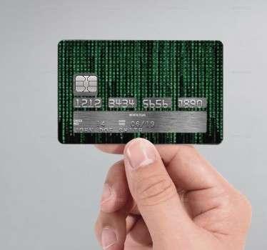 Naklejka na kartę kredytową Matrix