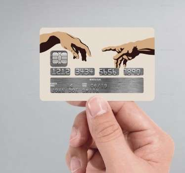The Creation Of Adam Credit Card Sticker