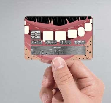 Kreditkartenaufkleber Mund Mann