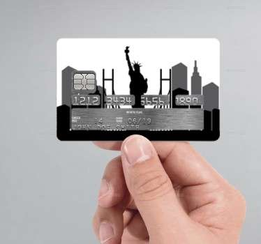 Decorate your credit card with this sticker of the New York city skyline.