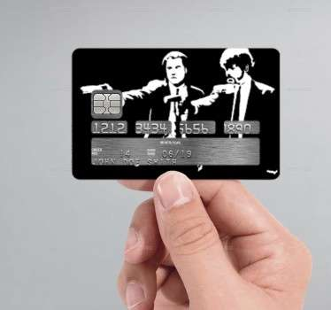 Autocolante cartão de crédito Pulp Fiction