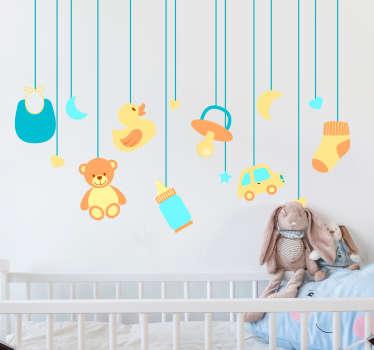 Sticker bébé jouets suspendus