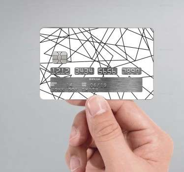 Zig-Zag lines credit card sticker