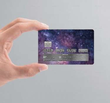 If you're looking for an original and unique way to customise your credit/debit cards, look no further than this universe credit card sticker!